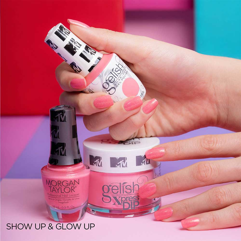 Geliniai nagų lakai - Show up & glow up spalva